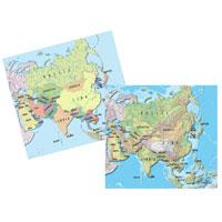 Cartina Asia Fisica.Vendita Cancelleria Articoli Per Ufficio Fornitura Mobili E Informatica Cartina Geografica Fisico Politica 29 7x42 Asia