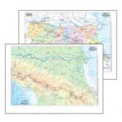 Cartina Topografica Emilia Romagna.Vendita Cancelleria Articoli Per Ufficio Fornitura Mobili E Informatica Cartina Geografica Fisico Politica 29 7x42 Emilia Romagna