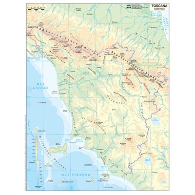 Cartina Italia Politica In Vendita.Vendita Cancelleria Articoli Per Ufficio Fornitura Mobili E Informatica Cartina Geografica Fisico Politica 29 7x42 Toscana